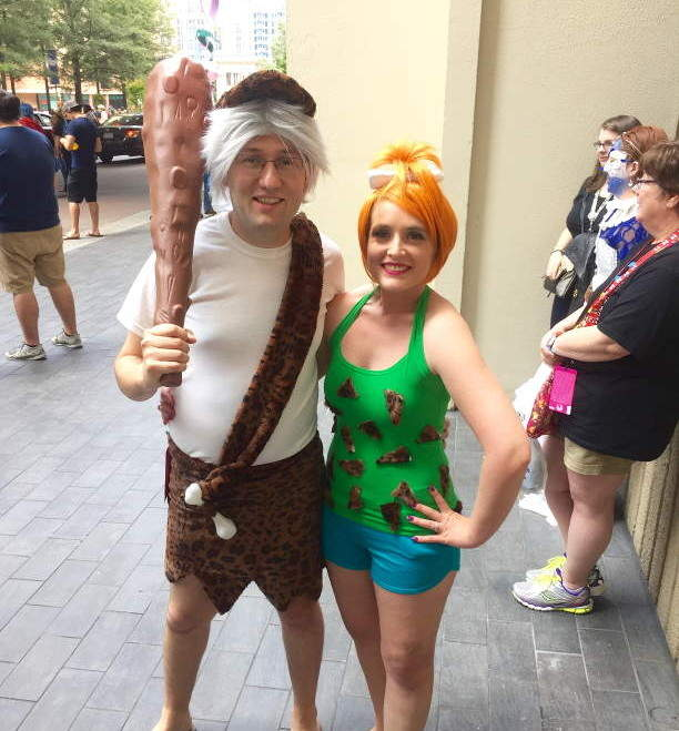 Pebbles and Bam Bam Costume Image