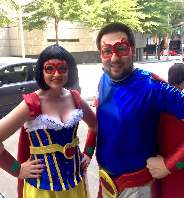 Superhero Snow White and Prince Charming Costume Image